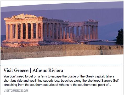 VisitGreece.com Suggests Athens Riviera